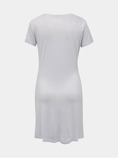 Šedo-bílá pruhovaná noční košile M&Co