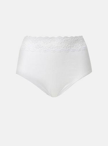 Sada tří bílých kalhotek s krajkou M&Co