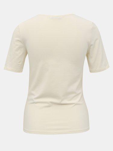 Krémové tričko ONLY Sally