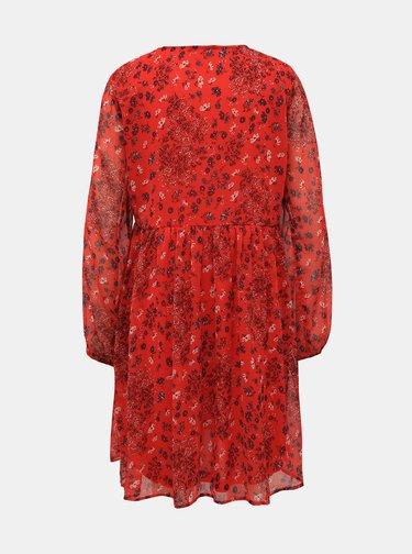 Červené kvetované šaty ONLY Nabby