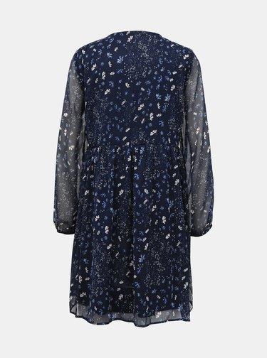 Tmavě modré květované šaty ONLY Nabby