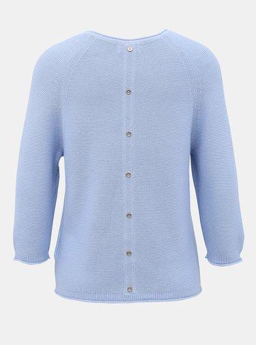 Světle modrý svetr s knoflíky na zádech ONLY Clara