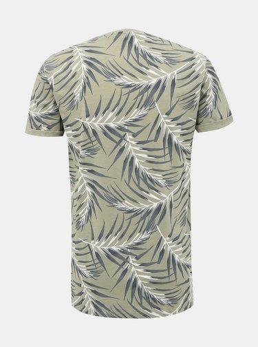 Zelené vzorované tričko ONLY & SONS Iason