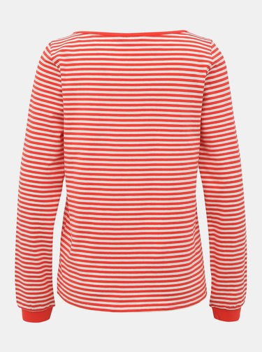 Bílo-červené pruhované basic tričko ONLY Aba