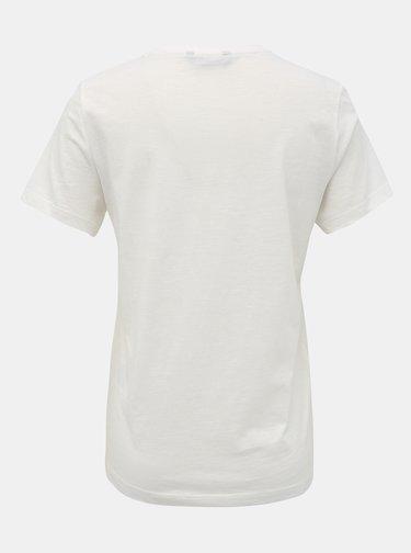 Bílé tričko s potiskem ONLY Babara
