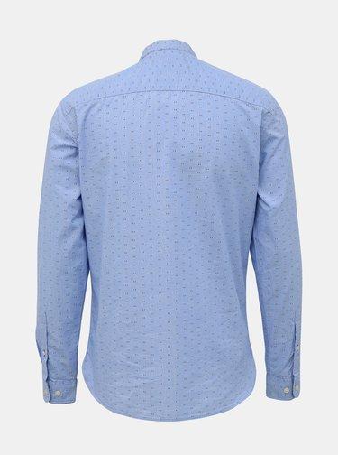 Svetlomodrá vzorovaná slim fit košeľa Selected Homme Lake