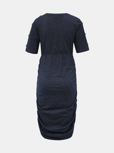 Tmavě modré těhotenské šaty s řasením Mama.licious Tracy