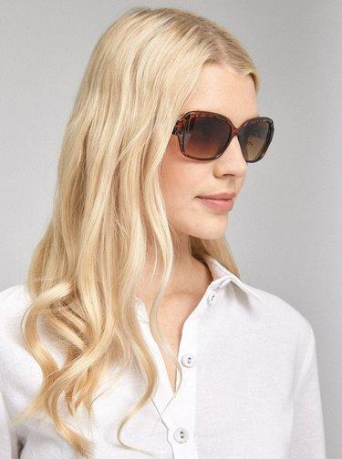 Hnedé slnečné okuliare so zvieracím vzorom Dorothy Perkins