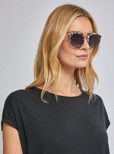 Béžové vzorované slnečné okuliare Dorothy Perkins