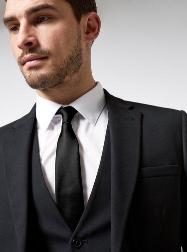 Černá kravata Burton Menswear London
