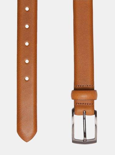 Hnedý kožený opasok Burton Menswear London