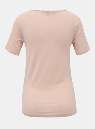 Světle růžové basic tričko VERO MODA Ava