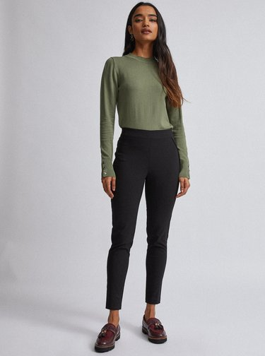 Černé kalhoty Dorothy Perkins Petite