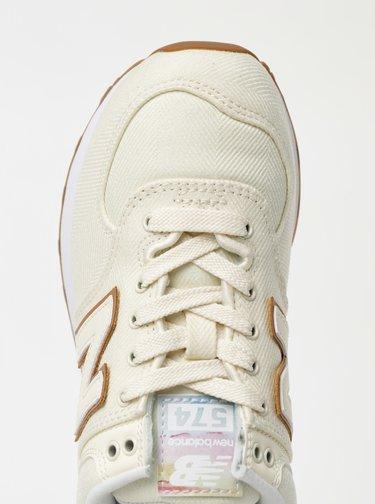 Krémové dámské tenisky New Balance 574