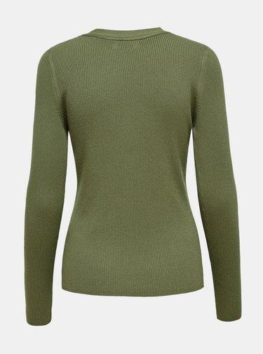 Khaki tričko Jacqueline de Yong Melani