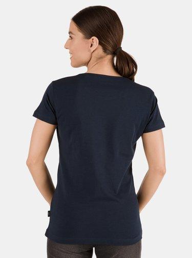 Tmavomodré dámske tričko s potlačou SAM 73 Meria