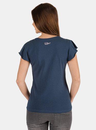 Tmavě modré dámské tričko s potiskem SAM 73 Lepsa