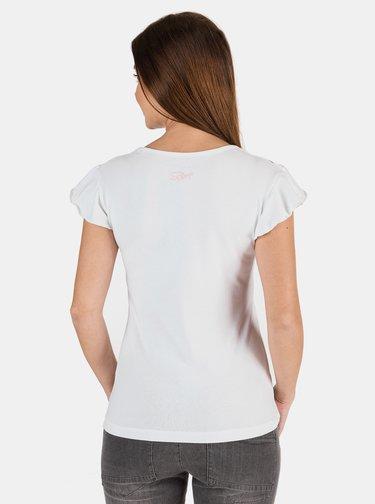 Bílé dámské tričko s potiskem SAM 73 Lepsa