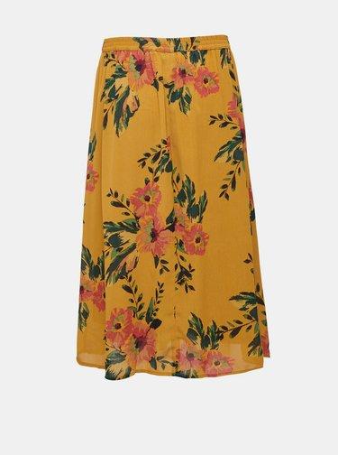 Žlutá květovaná midi sukně Jacqueline de Yong Solis