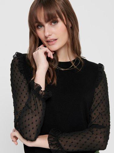 Černá halenka s krajkovými detaily Jacqueline de Yong Mixi