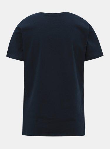 Tmavě modré dámské tričko s potiskem HELLY HANSEN Logo