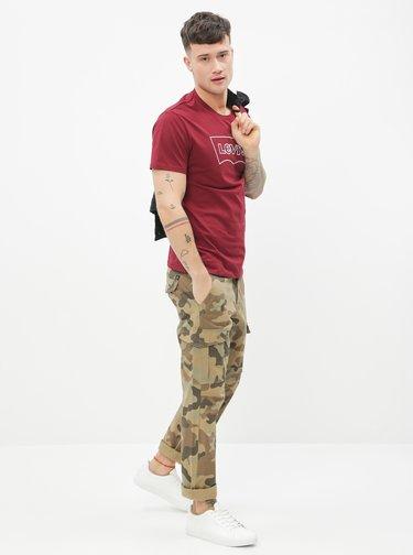 Vínové pánské tričko Levi's®