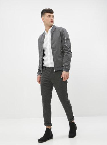Tmavě šedé kalhoty ONLY & SONS Mark