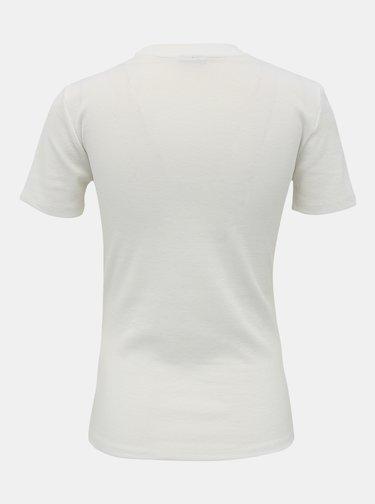 Bílé basic tričko Jacqueline de Yong Kissa