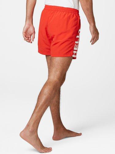 Červené pánske plavky s potlačou HELLY HANSEN Cascais