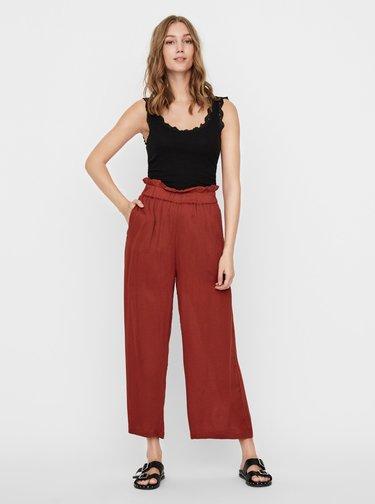 Cihlové kalhoty Noisy May Fleur