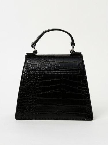 Černá crossbody kabelka s krokodýlím vzorem Pieces Nella