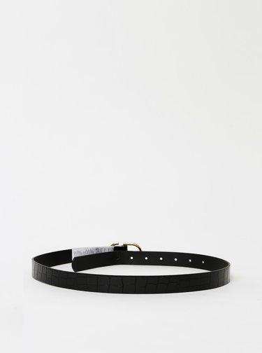 Černý pásek s krokodýlím vzorem Pieces Nadina