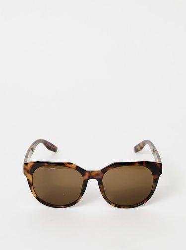 Hnedé vzorované slnečné okuliare Pieces Namilla