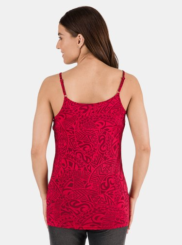 Červené dámske vzorované tielko SAM 73