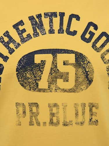 Žlté tričko s potlačou Jack & Jones Brody