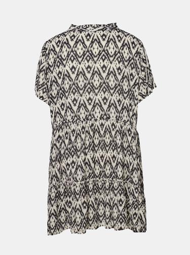 Krémovo-čierne vzorované šaty Zizzi Miggy