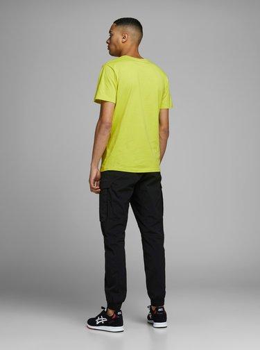 Žlué tričko s potlačou Jack & Jones Clean
