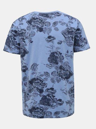 Modré květované tričko Jack & Jones Caleb