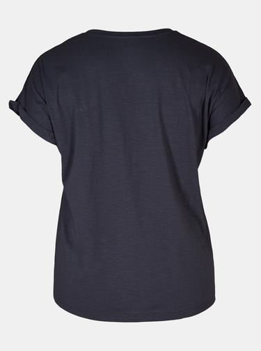 Tmavě modré vzorované tričko Zizzi Leah