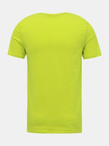 Světle zelené tričko s potiskem Jack & Jones Urban Strike