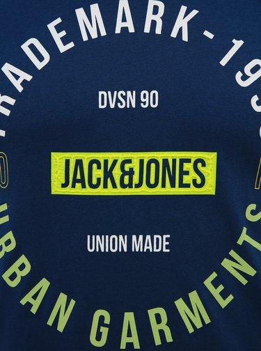 Modré tričko s potiskem Jack & Jones Koi
