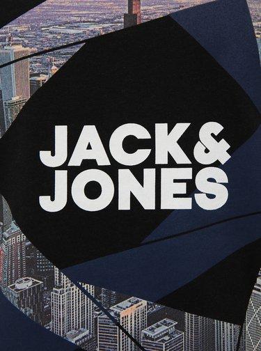 Čierne tričko s potlačou Jack & Jones Ifter