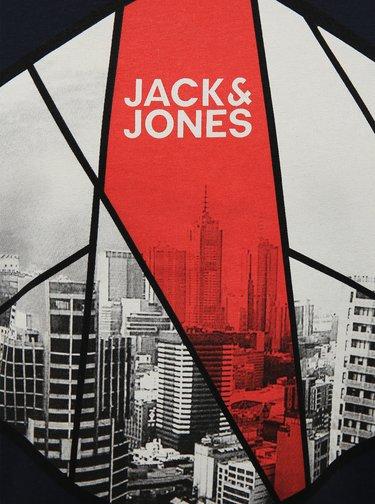 Tmavě modré tričko s potiskem Jack & Jones Ifter