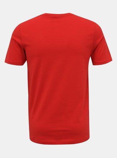 Červené tričko s potiskem Jack & Jones Shaun