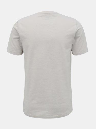 Svetlošedé tričko s potlačou Jack & Jones Urbany