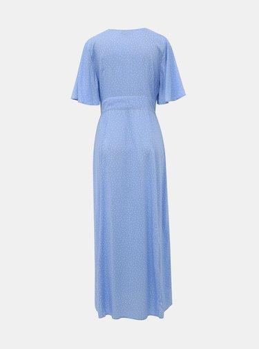 Modré bodkované maxišaty Miss Selfridge