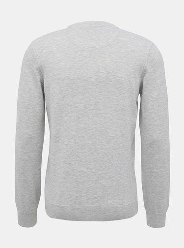 Světle šedý pánský basic svetr Lacoste