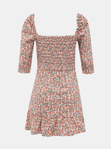 Růžové květované šaty Miss Selfridge