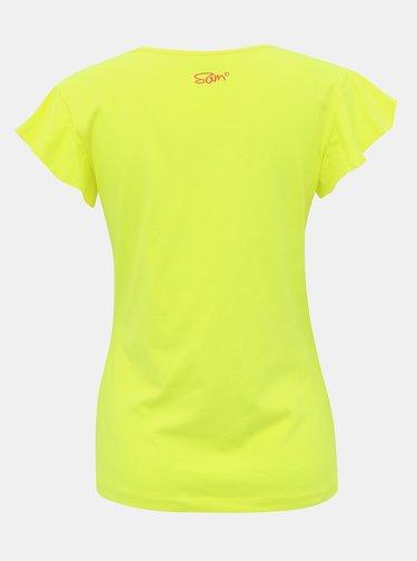 Žlté dámske tričko s potlačou SAM 73 Lepsa