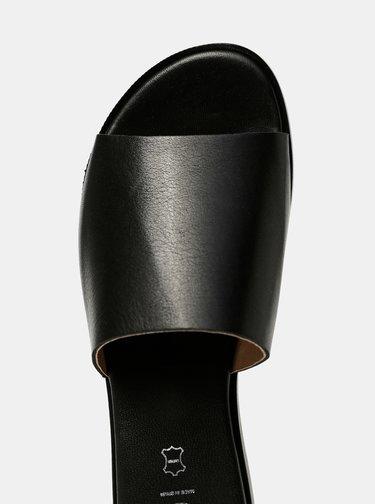 Čierne kožené šľapky OJJU Helsinki